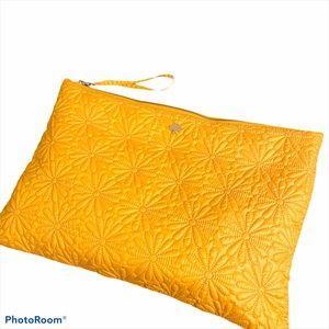Kate Spade flower embroidered cloth pouch